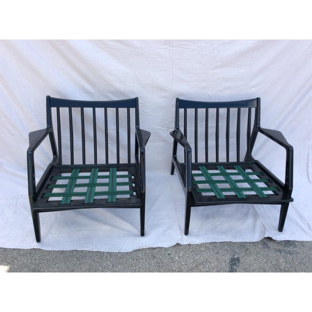 Wood Mid Century Side Chairs - a Pair For Sale - Image 7 of 10