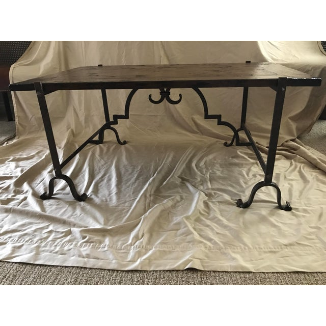 Lodge Wood & Iron Coffee Table For Sale - Image 3 of 7