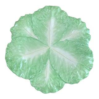Italian Mottahedeh Green Lettuce Platter For Sale
