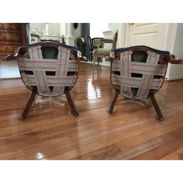 1900s Vintage Carved Mahogany Balloon Back Chairs- A Pair For Sale - Image 9 of 10