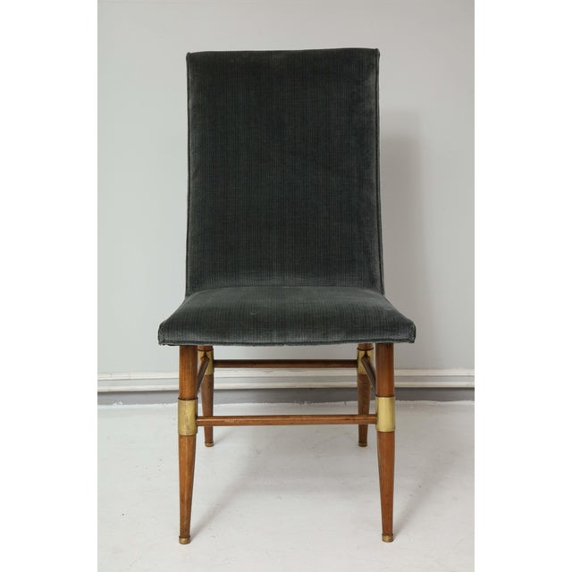 Set of six Italian Mid-Century Modern dining chairs- recently upholstered.