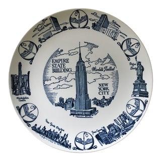 Vintage Mid Century New York City Souvenir Plate For Sale