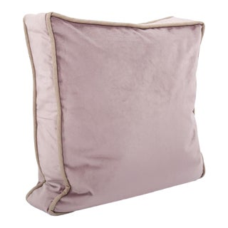 Kenneth Ludwig Chicago Gusseted Bella Rose Velvet Pillow With Contrast Welt For Sale