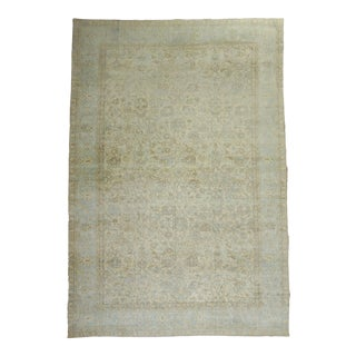 Early 20th Century Oversize Antique Beige Brown Light Rug, 10'10'' X 17'6'' For Sale