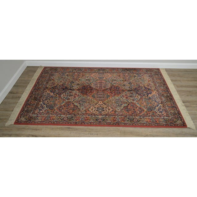 High Quality American Made Multicolor Panel Area Rug by Karastan Model # 717 Not Labeled