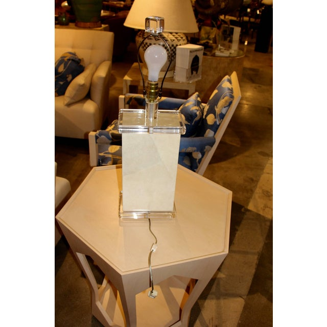 Richard Lindley Faux Painted Parchment Lamp For Sale In Palm Springs - Image 6 of 6