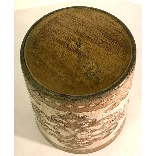 Plastic 20th Century Italian Florentine Waste Basket For Sale - Image 7 of 8