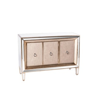 Contemporary Mirrored & Linen Cassidy Sideboard For Sale