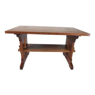 Paine Furniture Craftsman Oak Desk For Sale