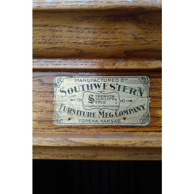 MCM Rustic Wood Book Shelf Storage Unit - Image 6 of 7