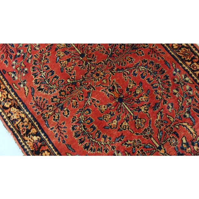 Islamic 1900s, Handmade Antique Persian Sarouk Runner 3.2' X 7.10' For Sale - Image 3 of 12