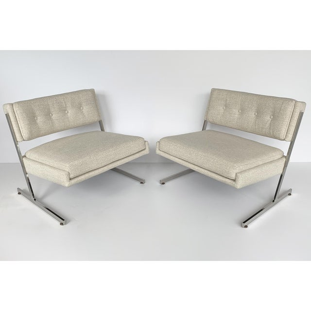 Harvey Probber Pair of Harvey Probber Cantilever Slipper Lounge Chairs For Sale - Image 4 of 13