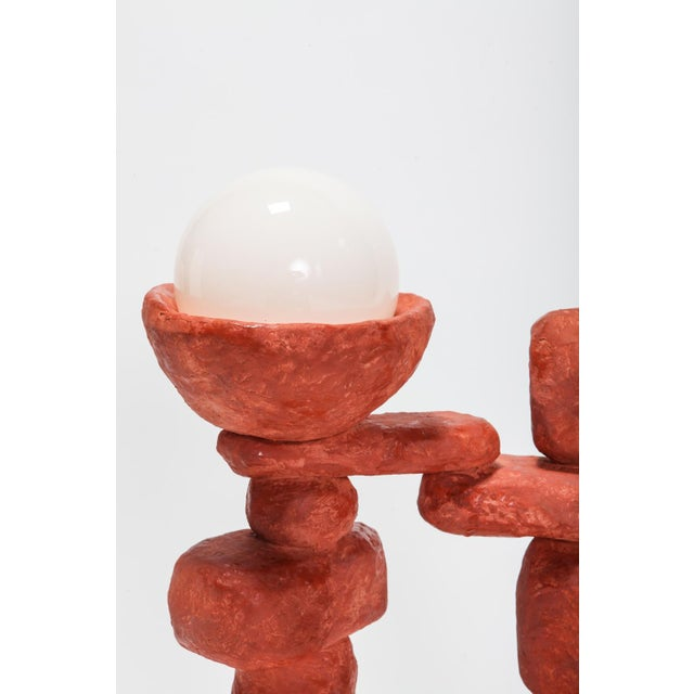 Contemporary Cotta Floor Lamp 3 For Sale - Image 3 of 8