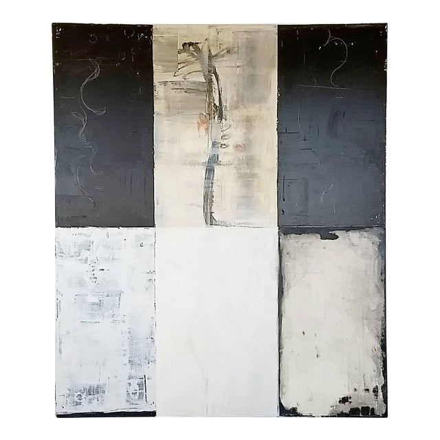 Contemporary Large Mixed-Media on Canvas Painting Signed Bernd Haussmann, 1999 For Sale