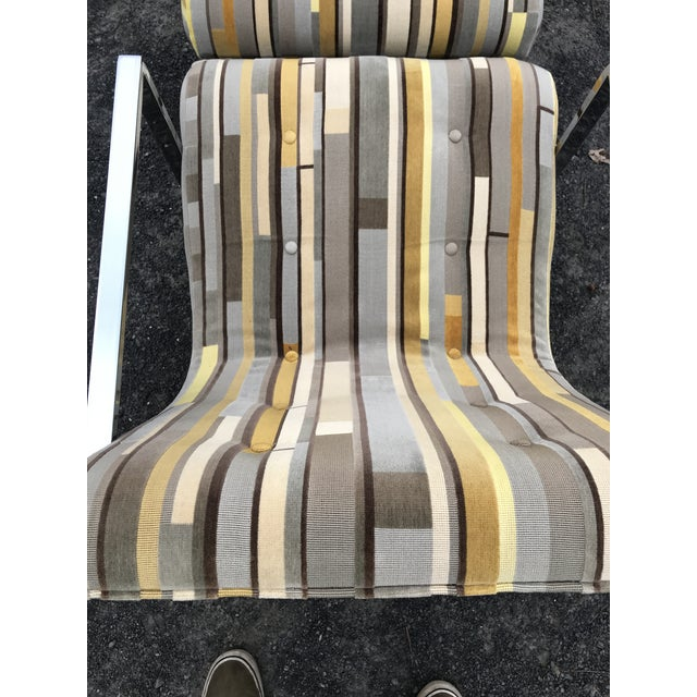 Fantastic Scoop Chairs New Textural Cotton Velvet Silver-Craft For Sale - Image 10 of 13