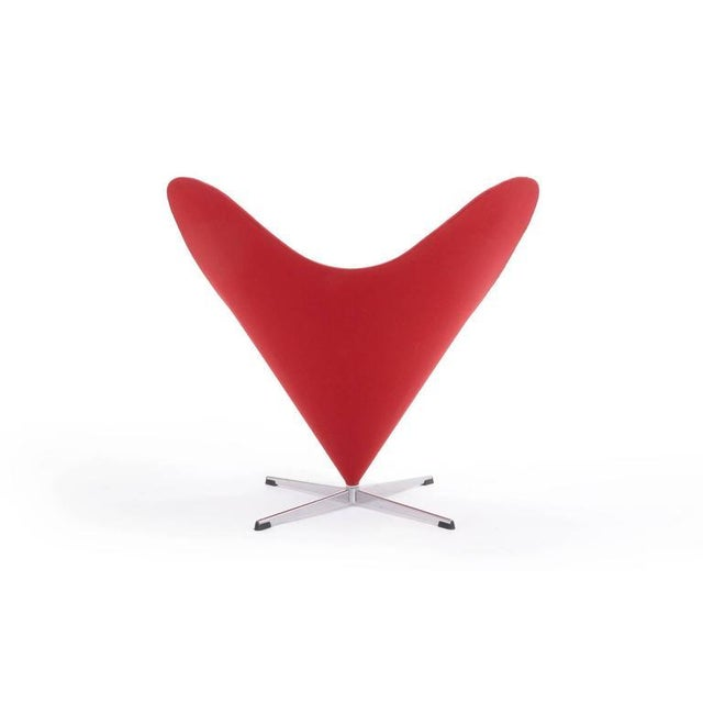 1950s Original Verner Panton Cone Heart Chair for Plus-Linje For Sale - Image 5 of 9