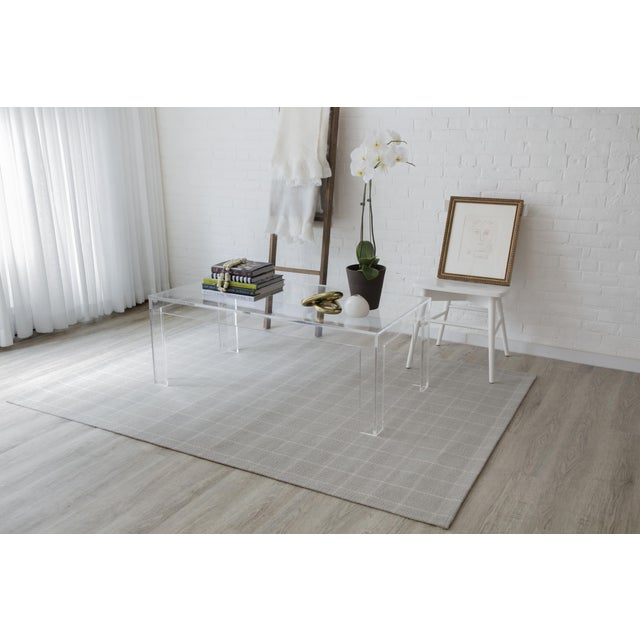 Textile Erin Gates by Momeni Marlborough Deerfield Grey Hand Woven Wool Area Rug - 8′ × 10′ For Sale - Image 7 of 8