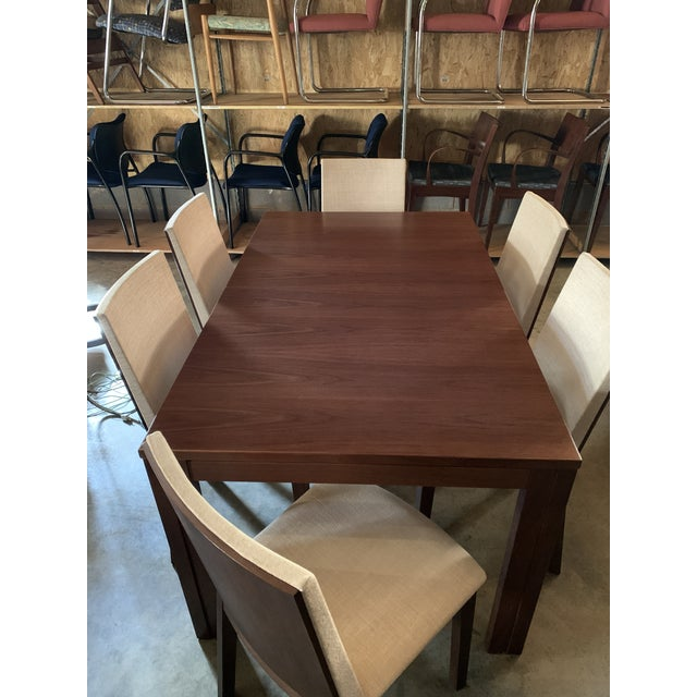 Mid-Century Modern Danish Modern Skovby Extended Dining Table and Six Chairs -- 7 Pieces For Sale - Image 3 of 12