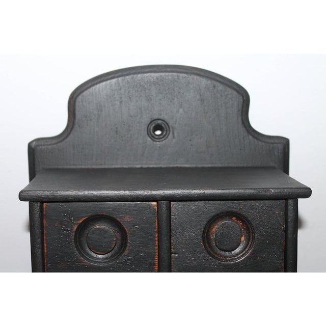 19th Century Black Painted Spice Box For Sale - Image 4 of 6