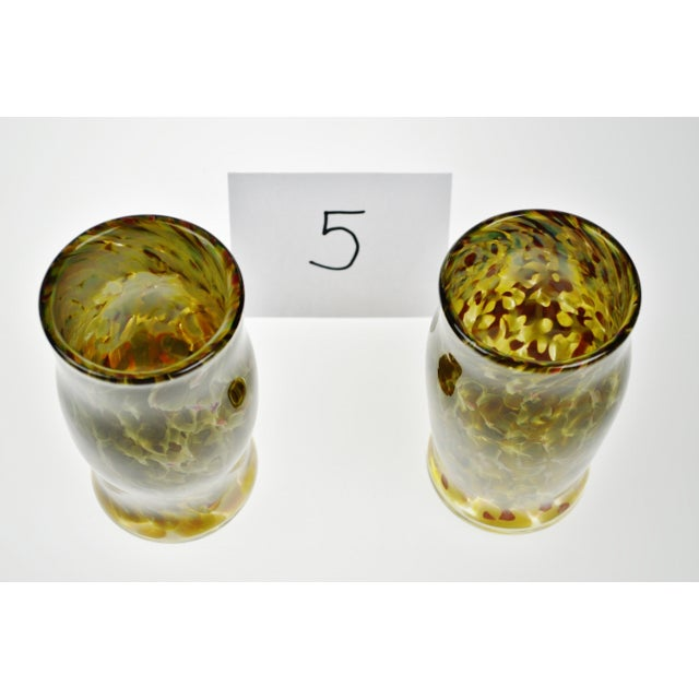 Hand-Blown Art Glass Vessels - A Pair - Image 10 of 11