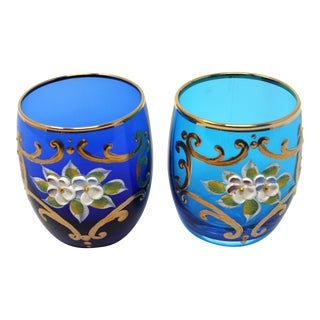 Murano Glass Tumblers by Salvadori - a Pair For Sale