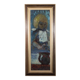 "Bertil Wahlberg ""Liten Flicka"" Oil Painting For Sale"