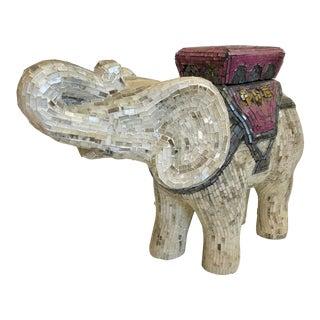 Hollywood Regency Mosaic Elephant Box For Sale