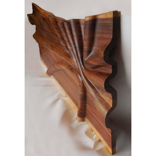 Modern Live Edge Undulating Wall Sculpture or Headboard For Sale - Image 4 of 10