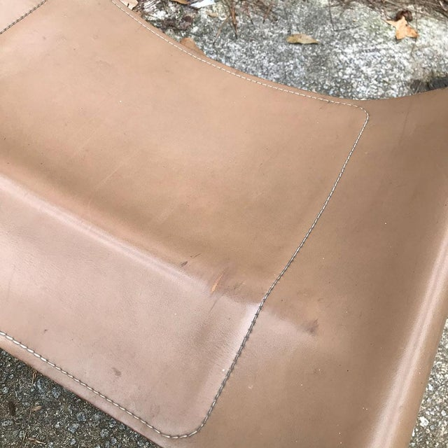 Ralph Rye for Dunbar Leather and Chrome Sling Chairs - a Pair For Sale - Image 10 of 12