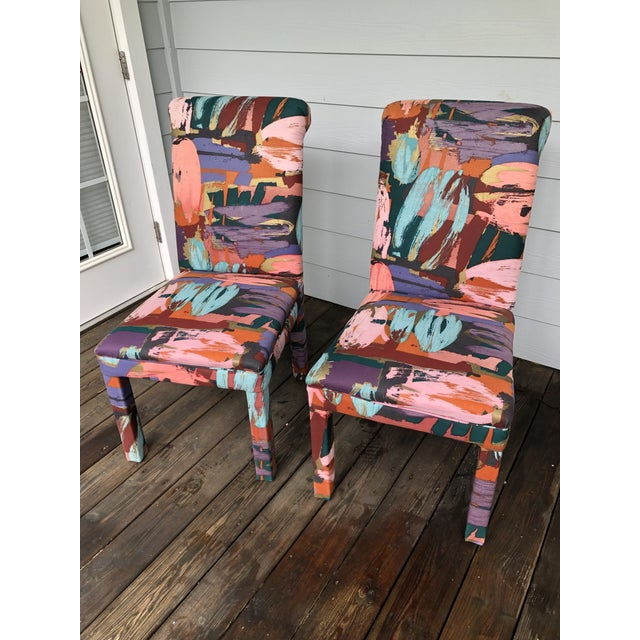 Vintage Parsons Chairs Chairs Set of 8 For Sale - Image 4 of 7