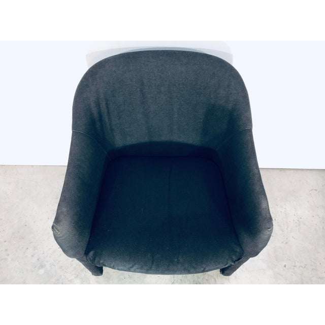 Black Thayer Coggin Black Denim Dining Arm Chairs- a Pair For Sale - Image 8 of 13