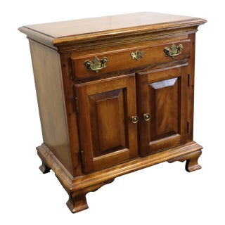 Maple Chippendale Style Nightstand For Sale