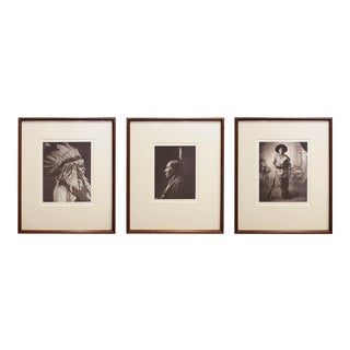 Early 20th c. Framed Native American Photographs by Frank Bennett Fiske, circa 1906 - Set of 3 For Sale