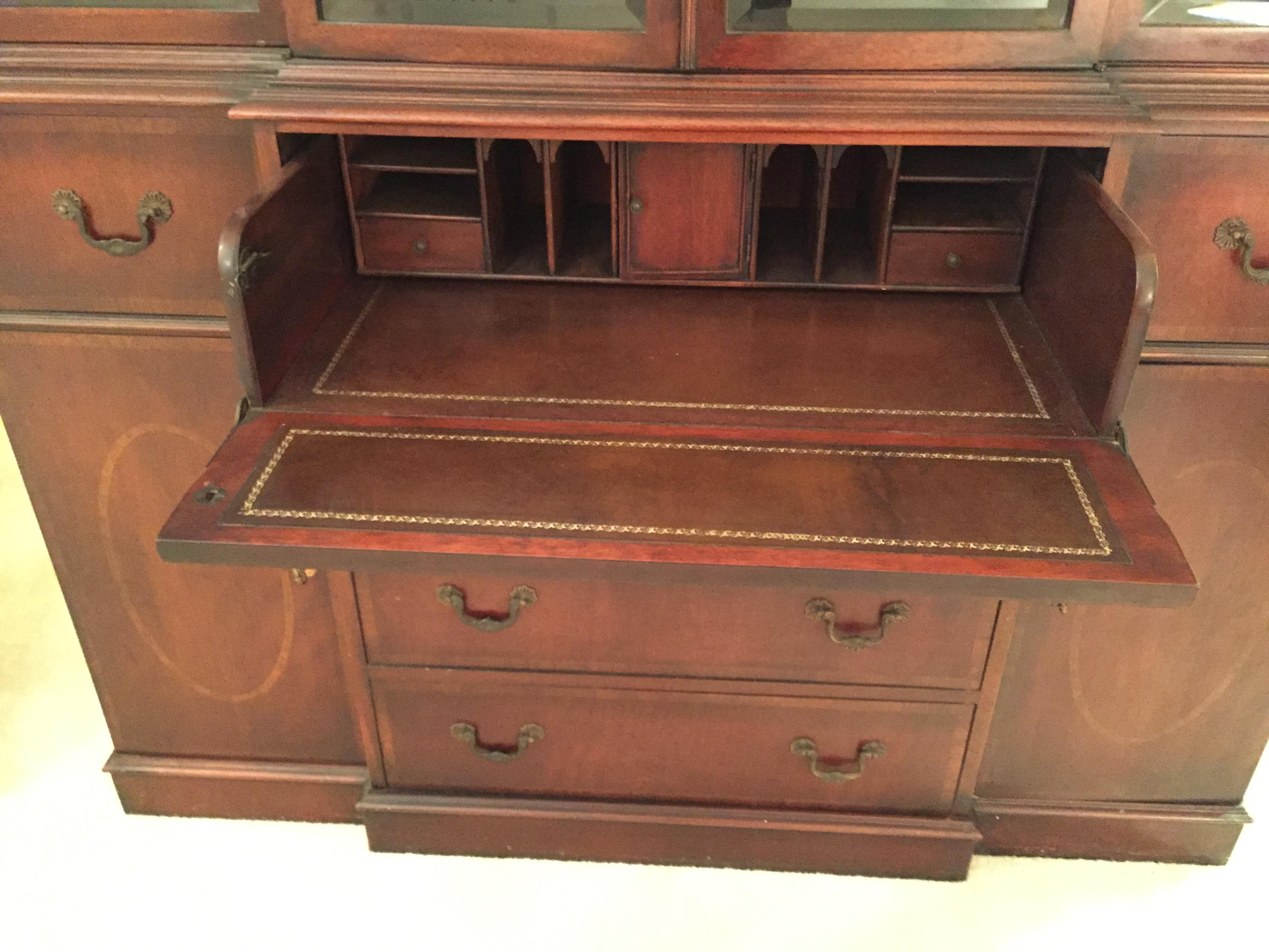 Union National Fine Furniture Co. Mahogany Secretary Cabinet   Image 3 Of 13