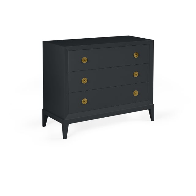 Transitional Casa Cosima Hayes Chest, Ebony King For Sale - Image 3 of 3