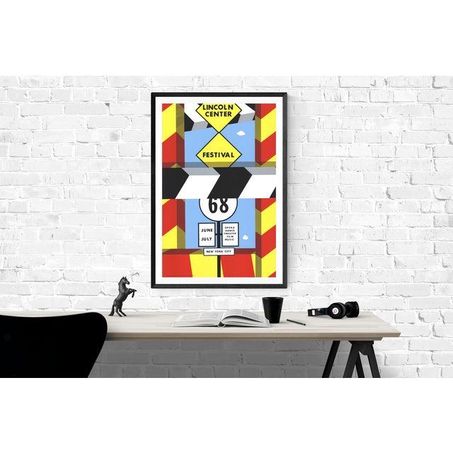 Mid-Century Modern Allan d'Arcangelo Poster, Lincoln Center Festival For Sale - Image 3 of 3