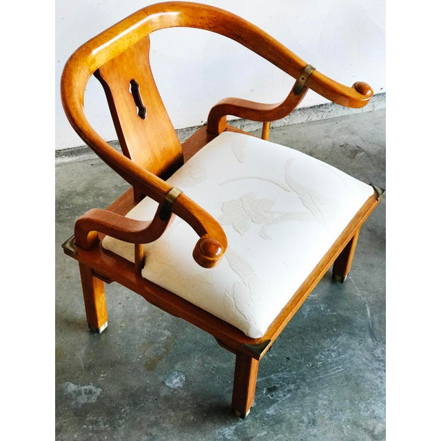 1960s Vintage James Mont Horseshoe Chairs - a Pair For Sale - Image 5 of 9