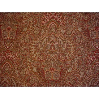 3-3/8y Kravet Couture Joseph Abboud Tazza Reds Floral Paisley Upholstery Fabric For Sale