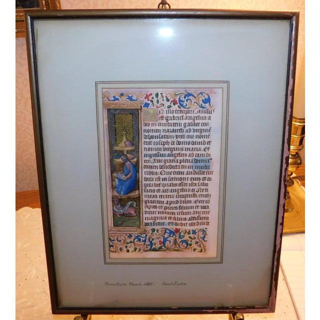 15th Century & Earlier 15th Century Illuminated Manuscript For Sale - Image 5 of 5