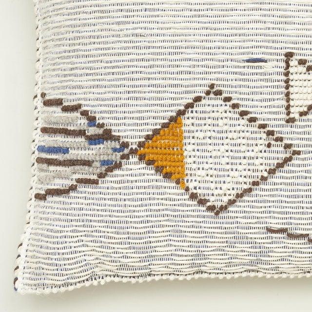 "Contemporary Schumacher Artiganale Italian Hand Woven Mediterraneo Blue 49"" Floor Pillow For Sale - Image 3 of 5"