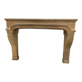 Antique French Limestone Fireplace For Sale