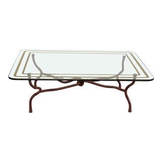 Mid-Century Modern Giacometti Style Coffee Table For Sale