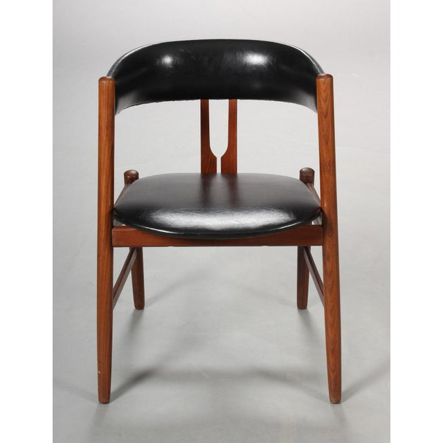 1960s Rare Danish Armchair in the Style of Kai Kristiansen For Sale - Image 5 of 8