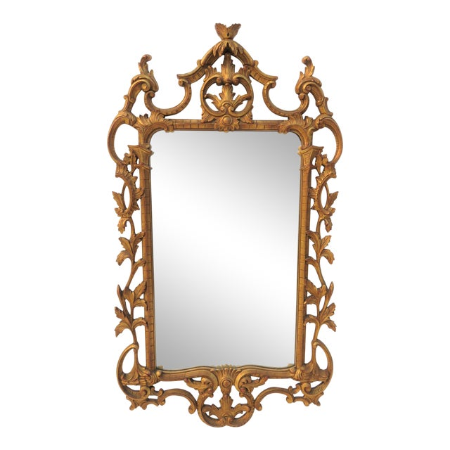 Italian Reticulated Gold Gilt Carved Mirror For Sale