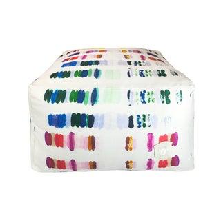 Multicolor Patterned Pouf For Sale