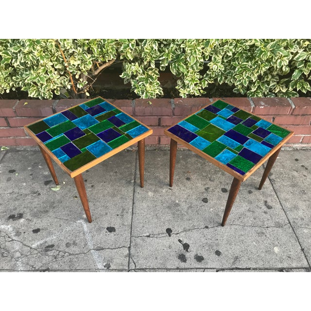 Mid Century Georges Briard Mosaic Glass Tables - a Pair For Sale - Image 12 of 12