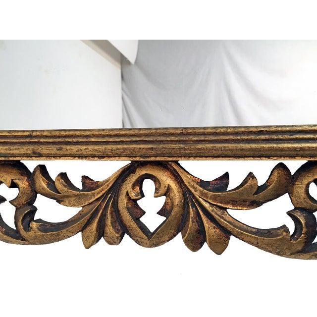 Italian Carved Wood & Gilt Mirror - Image 6 of 7