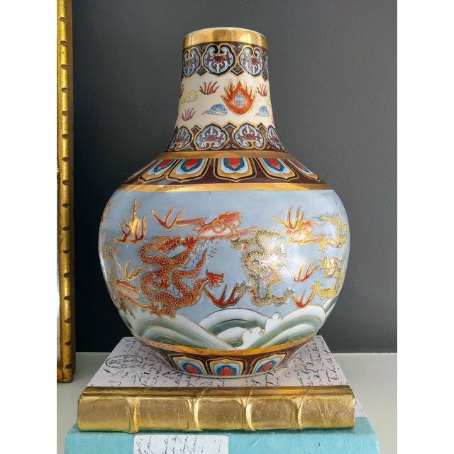 Asian Asian Modern Ceramic Good Fortune Vase For Sale - Image 3 of 9
