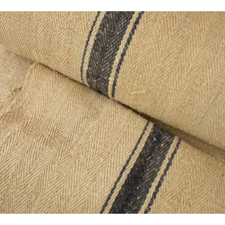 "Rustic Heavy Hemp Grain Sack Fabric By the Yard - 18.75x36"" For Sale"