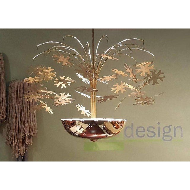 Gold Magnificent Paavo Tynell Snowflake Chandelier For Sale - Image 8 of 10
